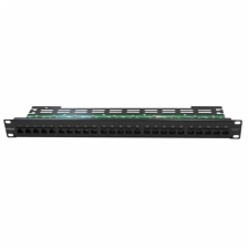 "19"" Patch Panel, ISDN, 25 x RJ45, 1U, organizator kabli"